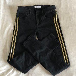 Loft Gold accent black jeans